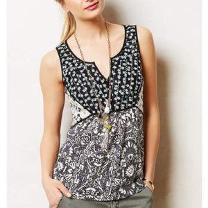 Anthropologie •Akemi + Kin• floral patchwork top